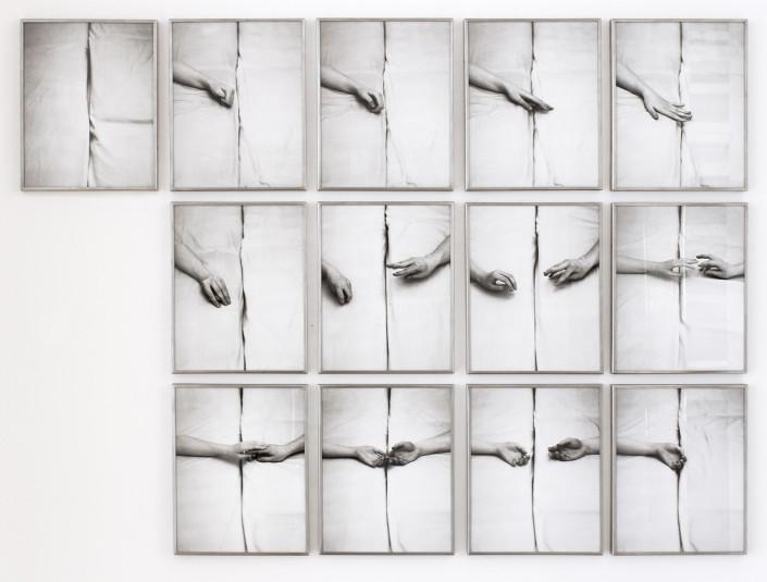 Rudolf Bonvie, Dialog, 1973 13 c-prints, framed, printed 2013 ed. of 10 installation size 169 × 124 cm