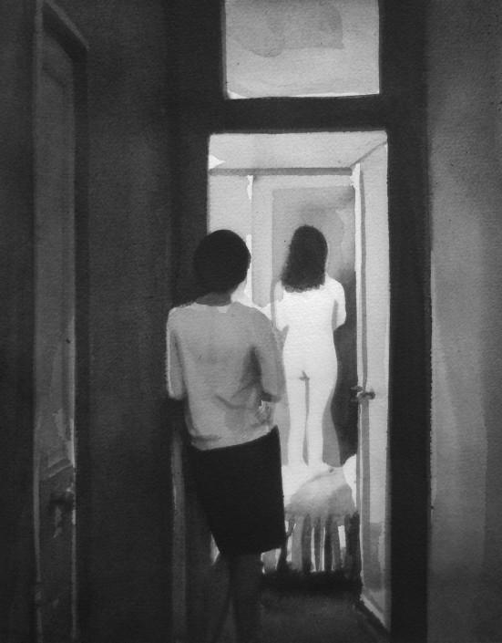 RADENKO MILAK | Vivre sa vie (1962, Jean-Luc Godard), 2014 | watercolor