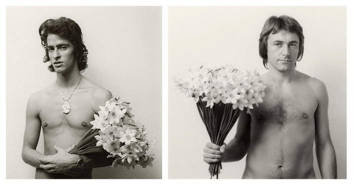 Rudolf Bonvie, 14 Personen - 25 Narzissen, 1976 | baryth prints of polaroid negatives