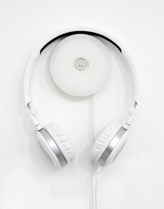 Jane Benson, Song for Sebald Headphones & sound pod for panels