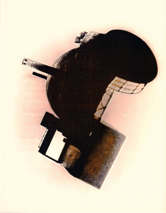 Rudolf Bonvie, Rhapsodie Nucléaire 2211 III 2. version 1989, 1988 photowork 135 x 106 cm ed. of 3