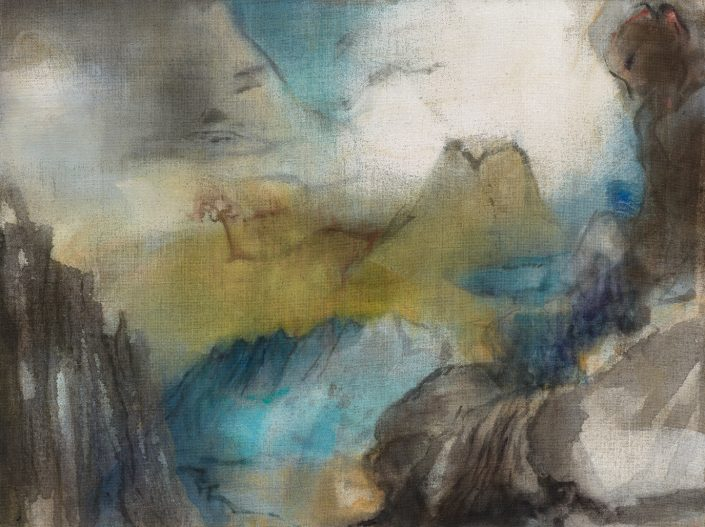 LEIKO IKEMURA | L2 2012 pingment, ink, oil on jute 120.00 x 160.00 cm
