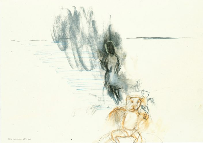 LEIKO IKEMURA | Untitled 2005 charcoal, pastel on transparent paper 29.70 x 42.00 cm