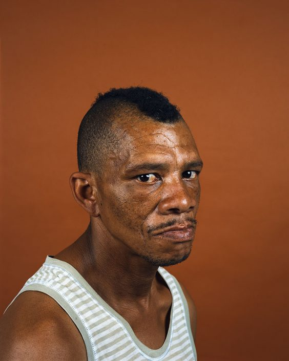 "Pieter Hugo, Pozio 'Patrick Pietersen' Gates, Cape Town, 2011 C-Print Large: ca. 127 x 102 cm (image), edition of 5 + 2AP Medium: ca. 103 x 82 cm (image), edition of 9 + 2AP, from the series ""Kin"""