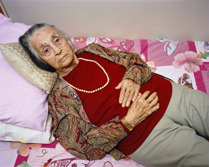 "Pieter Hugo, Anna Hugo, my grandmother, Cape Town, 2009, C-Print Large: ca. 102 x 127 cm (image), edition of 5 + 2AP Medium: ca- 82 x 103 cm (image), edition of 9 + 2AP, from the series ""Kin"""