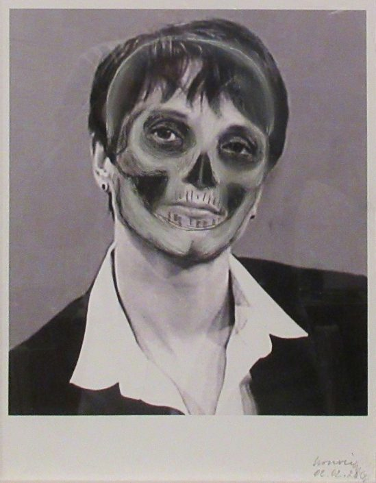 Rudolf Bonvie, Frauke Petry, 2016 Chalkdrawing, mounted on inkjet print 26.7 × 20.9 cm