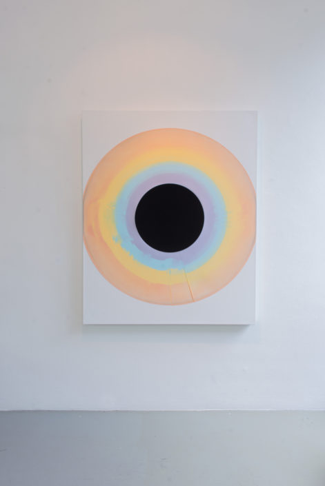 Warren Neidich, Joseph Anton Koch, 1815 (After Heroic Landscape With Rainbow), 2014, acrylic paint on canvas with black velvet, 160 x 130 cm, photo by Nathan Ishar